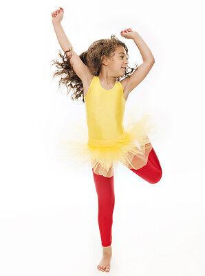 Da Ragazza Giallo Balletto Danza Costume 3 Rete Strato Morbido Gonna Tutù Katz 2