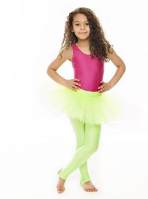 Da Ragazza Verde Lime Balletto Danza Costume 3 Rete Strato Gonna Tutù Da Katz 2