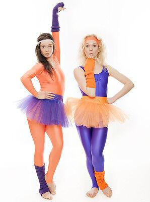 Da Ragazza Arancione Balletto Danza Costume 3 Rete Strato Morbido Gonna Tutù 7