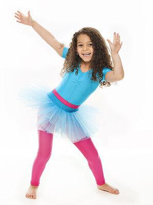 Da Ragazza Turchese Balletto Danza Costume 3 Rete Strato Gonna Tutù Da Katz 2 • EUR 10,44