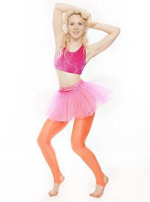 Da Ragazza Rosa Acceso Balletto Danza Costume 3 Rete Strato Gonna Tutù Da Katz 5