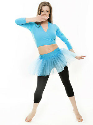 Da Ragazza Turchese Balletto Danza Costume 3 Rete Strato Gonna Tutù Da Katz 8 • EUR 10,44