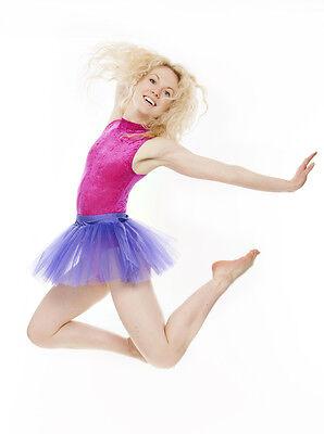 Da Ragazza Viola Balletto Danza Costume 3 Rete Strato Gonna Tutù Da Katz 5