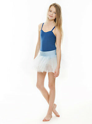 Da Ragazza Blu Pallido Balletto Danza Costume 3 Rete Strato Gonna Tutù Da Katz 2