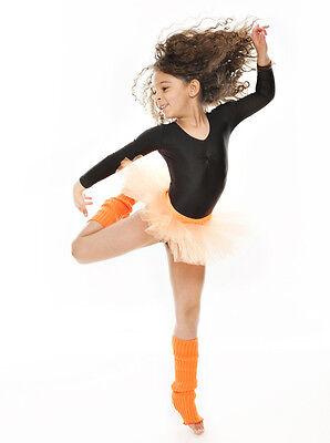 Da Ragazza Arancione Balletto Danza Costume 3 Rete Strato Morbido Gonna Tutù 10