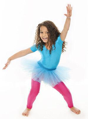 Da Ragazza Turchese Balletto Danza Costume 3 Rete Strato Gonna Tutù Da Katz 5