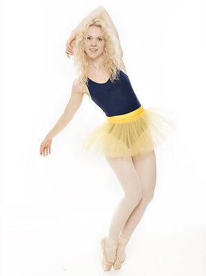 Da Ragazza Giallo Balletto Danza Costume 3 Rete Strato Morbido Gonna Tutù Katz 3