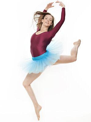 Da Ragazza Turchese Balletto Danza Costume 3 Rete Strato Gonna Tutù Da Katz 7