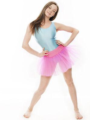 Da Ragazza Rosa Acceso Balletto Danza Costume 3 Rete Strato Gonna Tutù Da Katz