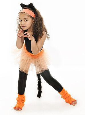Da Ragazza Arancione Balletto Danza Costume 3 Rete Strato Morbido Gonna Tutù 9