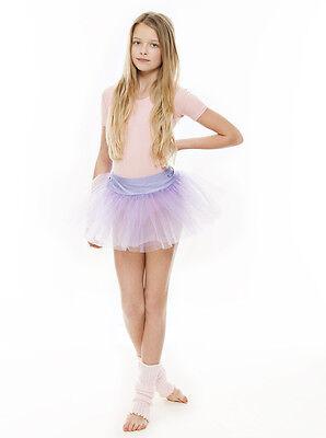 Da Ragazza Lilla Balletto Danza Costume 3 Rete Strato Morbido Gonna Tutù Da Katz 4 • EUR 10,61