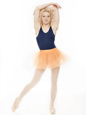 Da Ragazza Arancione Balletto Danza Costume 3 Rete Strato Morbido Gonna Tutù 6