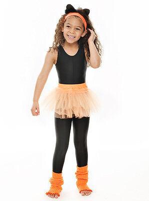 Da Ragazza Arancione Balletto Danza Costume 3 Rete Strato Morbido Gonna Tutù 3