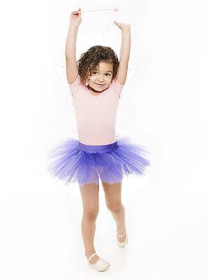 Da Ragazza Viola Balletto Danza Costume 3 Rete Strato Gonna Tutù Da Katz 2