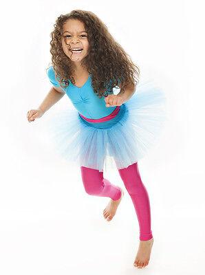 Da Ragazza Turchese Balletto Danza Costume 3 Rete Strato Gonna Tutù Da Katz 3 • EUR 10,44