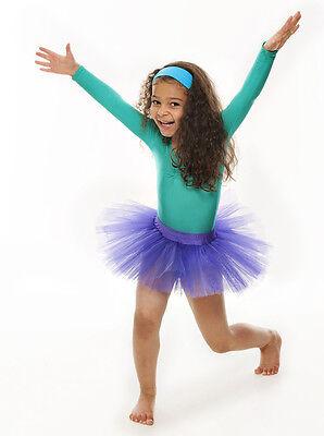 Da Ragazza Viola Balletto Danza Costume 3 Rete Strato Gonna Tutù Da Katz 3