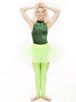 Da Ragazza Verde Lime Balletto Danza Costume 3 Rete Strato Gonna Tutù Da Katz 4