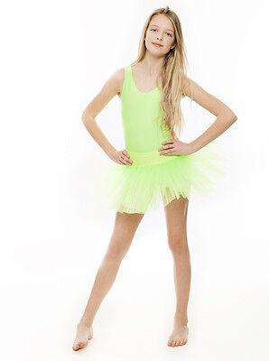 Da Ragazza Verde Lime Balletto Danza Costume 3 Rete Strato Gonna Tutù Da Katz 3