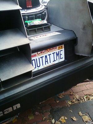 Back to the Future | Delorean | OUTATIME | STAMPED Replica Prop License Plate 5