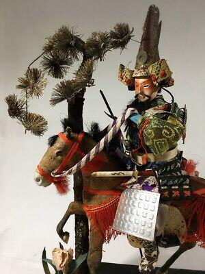 36cm Japanese Antique SAMURAI Armor YOROI Doll with Horse 3