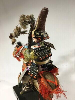 36cm Japanese Antique SAMURAI Armor YOROI Doll with Horse 7