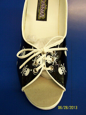 PUPIL Shoes Pirate Black White Skulls Dress Up Halloween Adult Costume Accessory