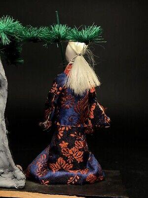 2 Antique NINGYO Japanese Dolls TAKASAGO HINA Old Japanese Couple 6