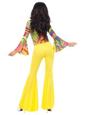 93f0461aff73f3 ... di 5 Smiffys Fever Anni 70 Moda Caschetto Hippie Donne Adulte Costume  Halloween 30445 3