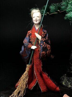 2 Antique NINGYO Japanese Dolls TAKASAGO HINA Old Japanese Couple 2