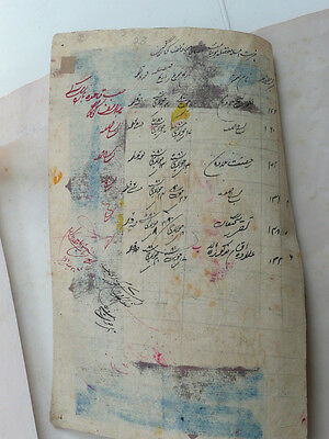 Antique Persian Hand Painted Miniature Islamic Illustration Script Tiger Hunt 5