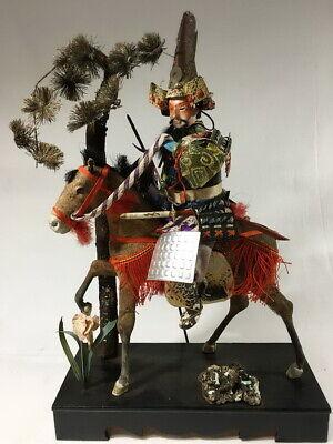 36cm Japanese Antique SAMURAI Armor YOROI Doll with Horse 2