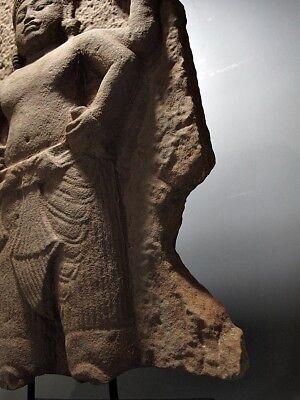 Sculpture Khmer Sandstone Narayana Figure Sanctum Wall Stone Relic 'Angkor Wat' 4