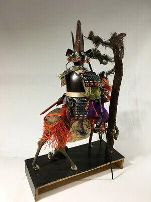 36cm Japanese Antique SAMURAI Armor YOROI Doll with Horse 10