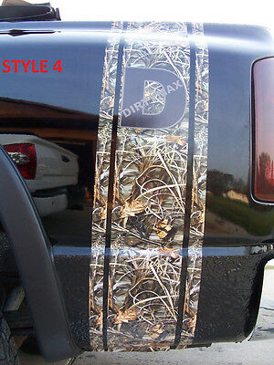 Real Tree M4 CAMO Diesel Chevy GMC Truck Bed Stripes Stripe Decals Duramax