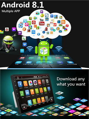 """Android 8.1 Double 2Din 10.1"""" HD Quad-Core Car Stereo Radio GPS Wifi Mirror Link 4"""