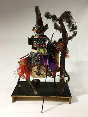 36cm Japanese Antique SAMURAI Armor YOROI Doll with Horse 8