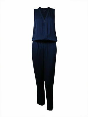 NEW TOMMY HILFIGER RED Sleeveless Vneck Jumpsuit Womens 6/8 Romper Pants NWT 2