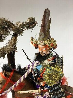 36cm Japanese Antique SAMURAI Armor YOROI Doll with Horse 4