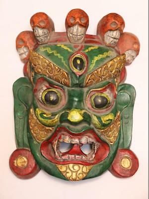 China Hand Art Carved Conventional Painted Wood Ghost Ghosts And Hods Mask 2