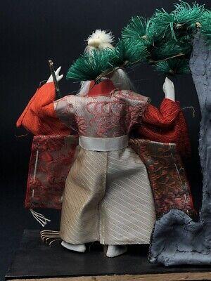2 Antique NINGYO Japanese Dolls TAKASAGO HINA Old Japanese Couple 7