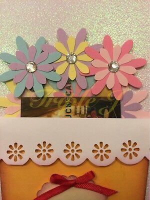 Handmade Gift Card Holder Flowers Pot Plastic Box Congratulation