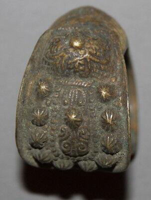 Antique Handcrafted Greek Folk Crusader Bronze Fertility Bracelet