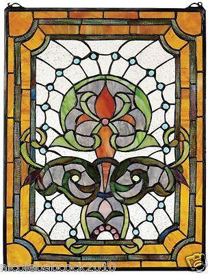 Belle Epoch Estate Manor Iris  Stained Glass Window 5