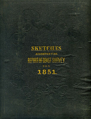 1851 Original Map Superintendent Of Us Coast Guard Survey Boston Harbor 11