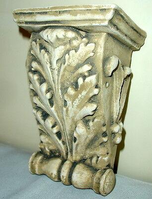 "Antique Finish Shelf Acanthus leaf plaster Wall Corbel Sconce Bracket 5.5"" 6"