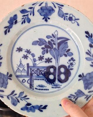 Assiette faience Delft XVIIIeme décor fleurs 2