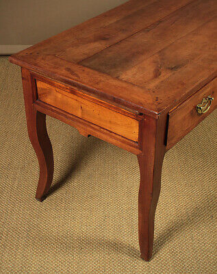 Antique 19th.c. French Cherrywood Kitchen Table c.1810. 6