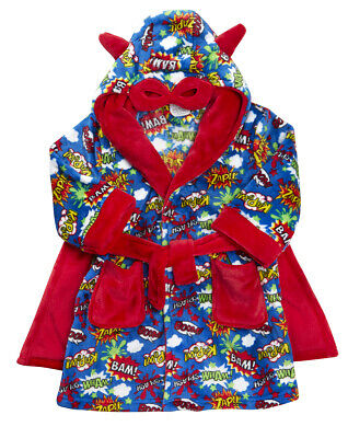 Kids Childrens Novelty Dressing Gown Robe Fun Fleece Character Design Ages 2-13 2