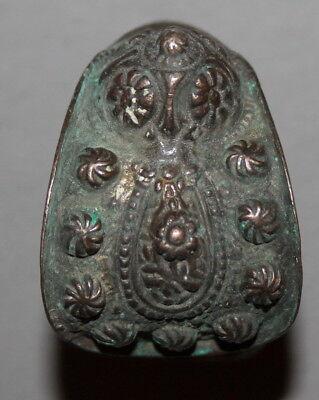 Antique Greek Folk Crusader Bronze Fertility Bracelet