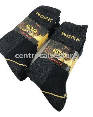 12 Paia Calze Calzini Uomo Da Lavoro Rinforzati Resistenti Work Socks 7